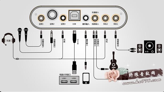 客所思k20声卡驱动 控制面板