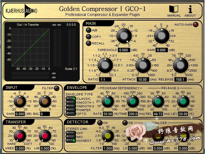 Kjaerhus AudioGC01压缩器vst插件效果器