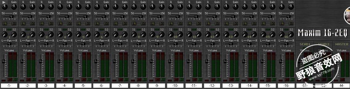 Maxim16-2EQ机架专用调音台VST插件效果器