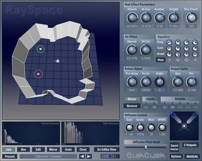 混响插件/混响效果器/超级混响rayspace