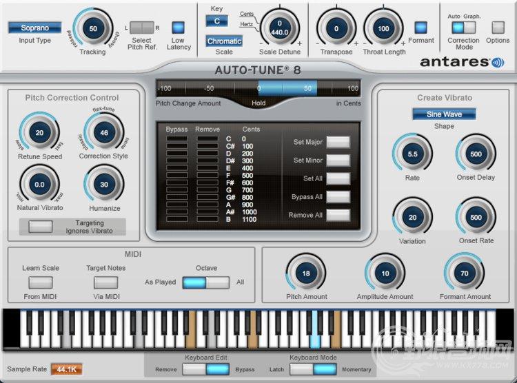 电音插件/电音软件系列之Auto tune 8